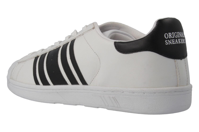 Boras Sneaker in Übergrößen Weiß 3679-0066 große Herrenschuhe – Bild 2