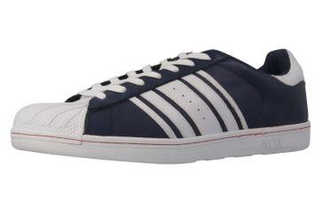 Boras Sneaker in Übergrößen Blau 3679-0228 große Herrenschuhe