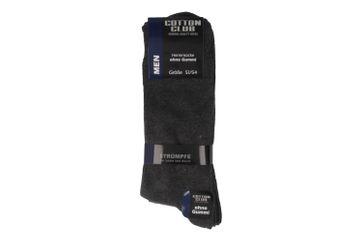 Cotton Club Socken in Übergrößen Grau 4097-2 große Herrenschuhe – Bild 1