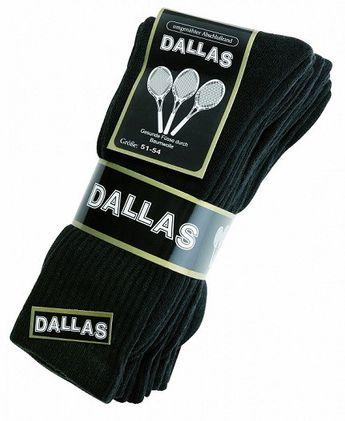 DALLAS - Tennissocken 3er Pack - Schwarz XXL Socken