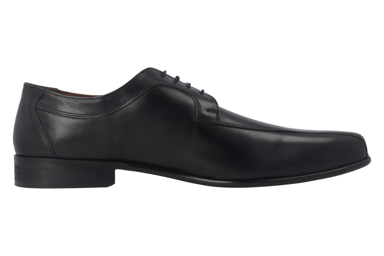 Manz Business-Schuhe in Übergrößen Schwarz 134005-02-001 große Herrenschuhe – Bild 3