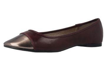 ANDRES MACHADO - Damen Ballerinas - Bordeauxrot Schuhe in Übergrößen – Bild 1