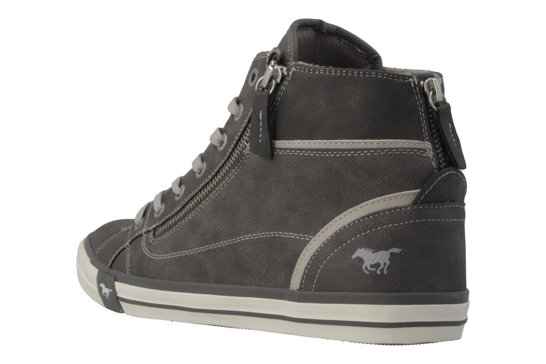 Mustang Shoes High Top Sneaker in Übergrößen Grau 1209-502-2 große Damenschuhe – Bild 2