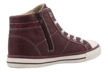 MUSTANG - Damen High Top Sneaker - Bordeauxrot Schuhe in Übergrößen – Bild 3