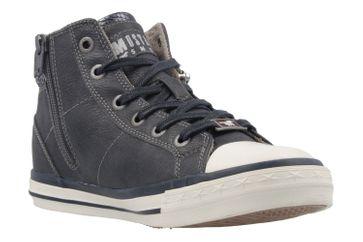 Mustang Shoes High Top Sneaker in Übergrößen Blau 1146-508-820 große Damenschuhe – Bild 5