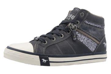 MUSTANG - Damen High Top Sneaker - Blau Schuhe in Übergrößen – Bild 1