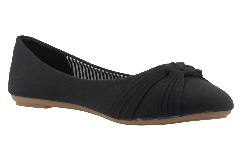 Fitters Footwear Ballerinas in Übergrößen Schwarz 2.514307 Amy Blk Cotton große Damenschuhe – Bild 5