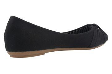 Fitters Footwear Ballerinas in Übergrößen Schwarz 2.514307 Amy Blk Cotton große Damenschuhe – Bild 3