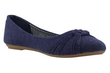 Fitters Footwear Ballerinas in Übergrößen Blau 2.514307 4194 - Navy große Damenschuhe – Bild 5