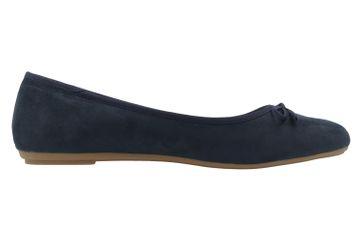Fitters Footwear Ballerinas in Übergrößen Blau 2.589601 Helen Navy Micro große Damenschuhe – Bild 4