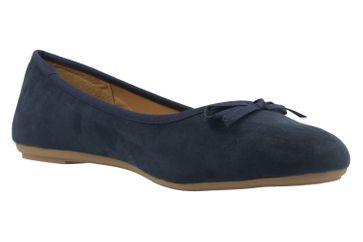 Fitters Footwear Ballerinas in Übergrößen Blau 2.589601 Helen Navy Micro große Damenschuhe – Bild 5