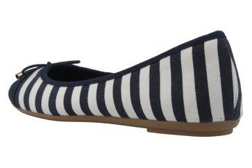 Fitters Footwear Ballerinas in Übergrößen Blau 2.514343 Navy/White große Damenschuhe – Bild 2