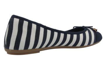 FITTERS FOOTWEAR - Grace - Damen Ballerinas - Blau/Weiß Schuhe in Übergrößen – Bild 3