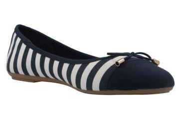 Fitters Footwear Ballerinas in Übergrößen Blau 2.514343 Navy/White große Damenschuhe – Bild 5