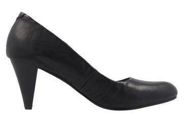 Fitters Footwear Pumps in Übergrößen Schwarz 2.469201 Black Brushed PU große Damenschuhe – Bild 4