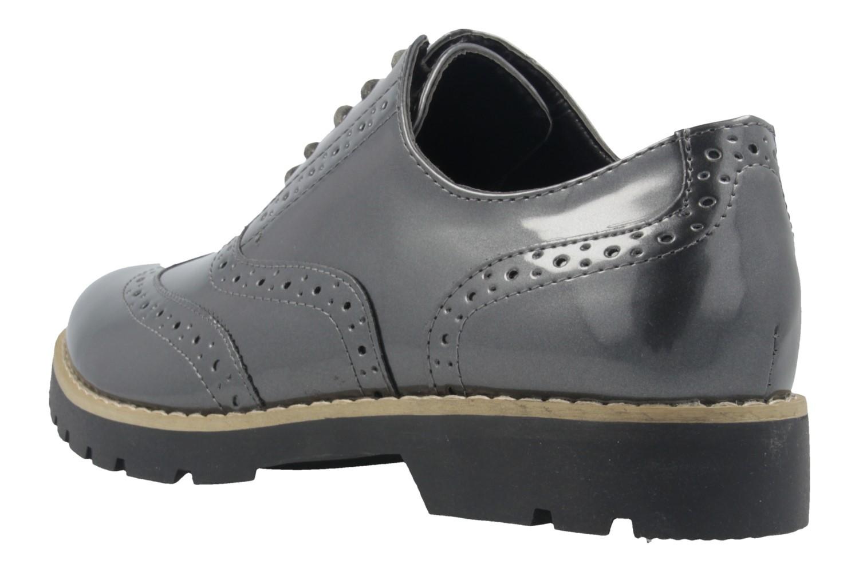 Fitters Footwear Halbschuhe in Übergrößen Grau 2.373202 Grey Patent große Damenschuhe – Bild 2