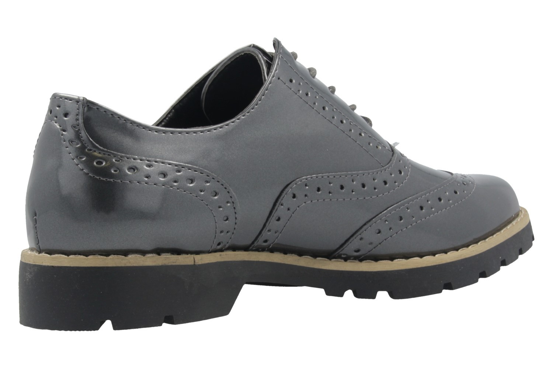 Fitters Footwear Halbschuhe in Übergrößen Grau 2.373202 Grey Patent große Damenschuhe – Bild 3