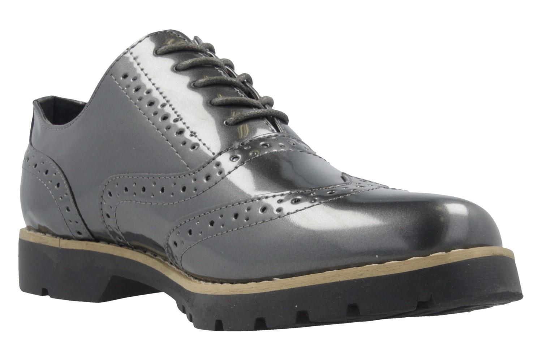 Fitters Footwear Halbschuhe in Übergrößen Grau 2.373202 Grey Patent große Damenschuhe – Bild 5