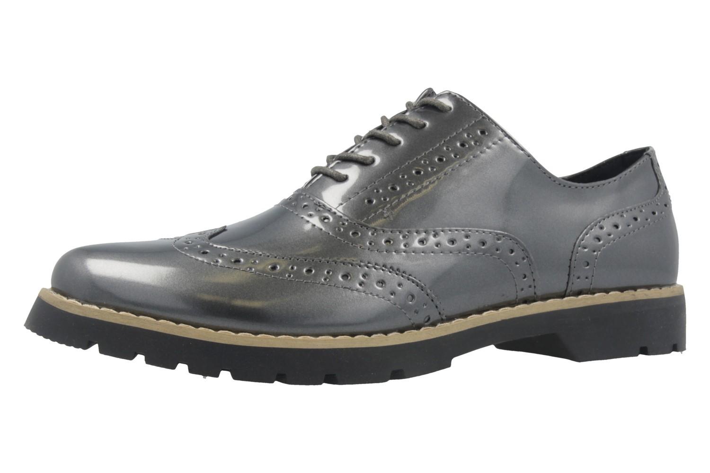 FITTERS FOOTWEAR - Isabelle - Damen Halbschuhe - Lack Grau Schuhe in Übergrößen – Bild 1