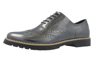 Fitters Footwear Halbschuhe in Übergrößen Grau 2.373202 Grey Patent große Damenschuhe