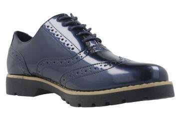 Fitters Footwear Halbschuhe in Übergrößen Blau 2.373202 Navy Patent große Damenschuhe – Bild 5