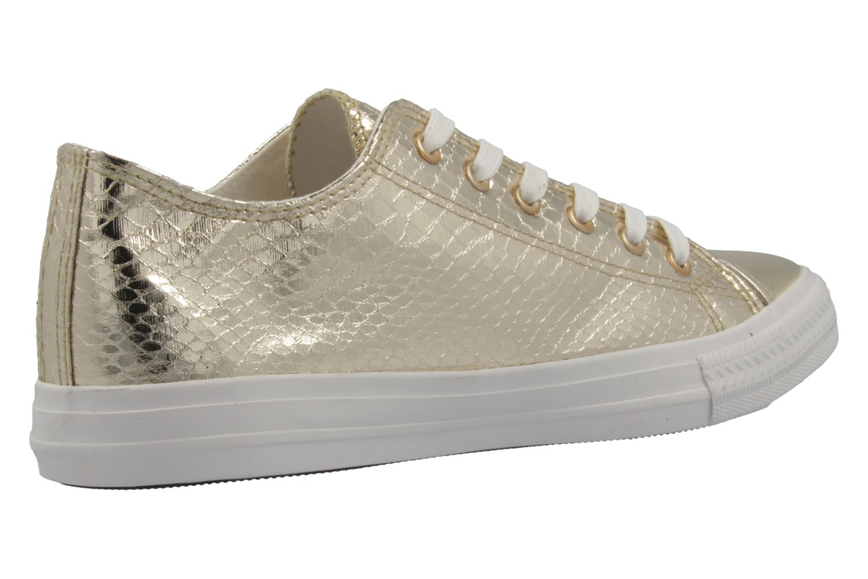 Fitters Footwear Sneaker in Übergrößen Gold 2.581030 Gold große Damenschuhe – Bild 3