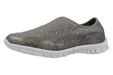 Fitters Footwear Sneaker in Übergrößen Grau 2.971401 Grey große Damenschuhe – Bild 1