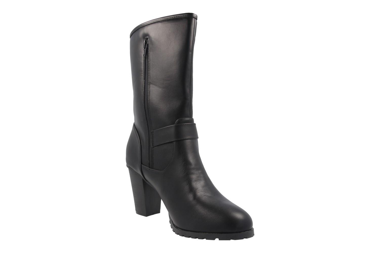 ANDRES MACHADO - Damen Stiefel - Schwarz Schuhe in Übergrößen – Bild 5