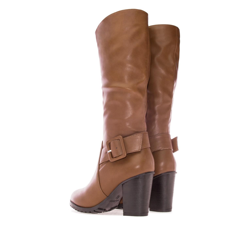 ANDRES MACHADO - Damen Stiefel - Braun Schuhe in Übergrößen – Bild 3