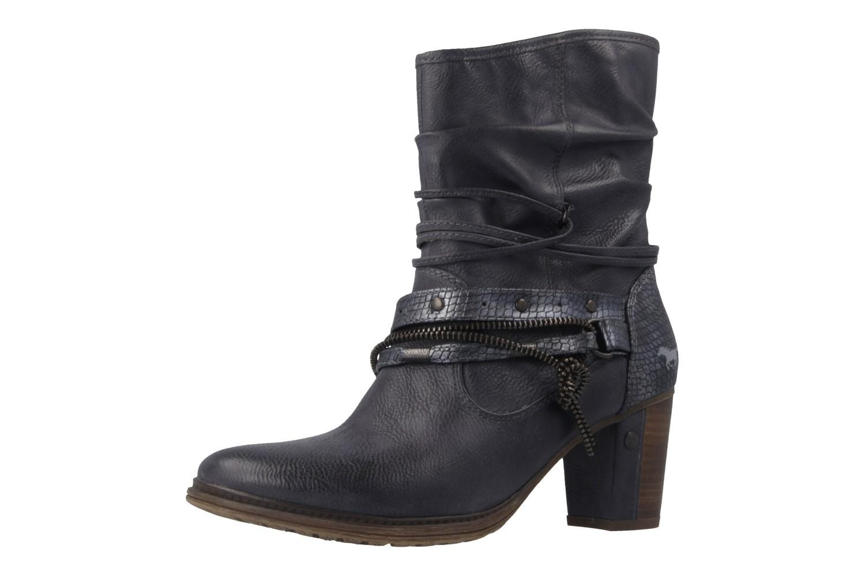 MUSTANG - Damen Stiefeletten - Blau Schuhe in Übergrößen – Bild 1