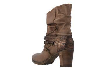 Mustang Shoes Stiefeletten in Übergrößen Beige 1199-506-33 große Damenschuhe – Bild 2