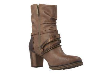 Mustang Shoes Stiefeletten in Übergrößen Beige 1199-506-33 große Damenschuhe – Bild 5