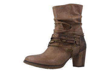 Mustang Shoes Stiefeletten in Übergrößen Beige 1199-506-33 große Damenschuhe – Bild 1