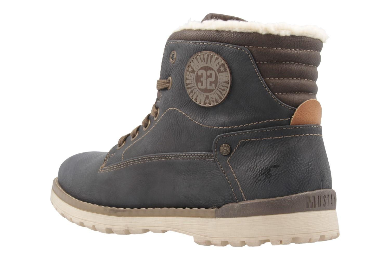 Mustang Shoes Boots in Übergrößen Grau 4092-602-259 große Herrenschuhe – Bild 2