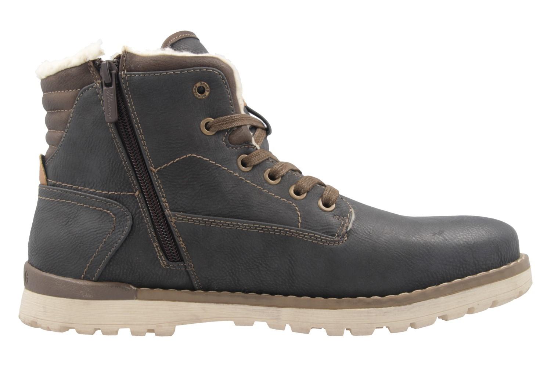Mustang Shoes Boots in Übergrößen Grau 4092-602-259 große Herrenschuhe – Bild 4