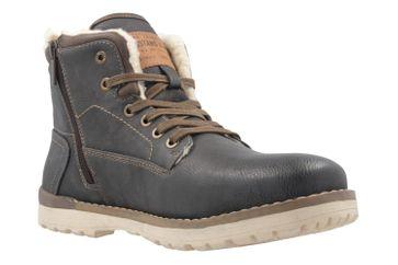 Mustang Shoes Boots in Übergrößen Grau 4092-602-259 große Herrenschuhe – Bild 5