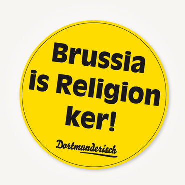 Aufkleber - Brussia is Religion ker!
