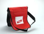 Mustertasche Messenger Bag 'Dehn' aus 130g PP Non Woven / natur / Format: 35 (Breite) x 10 (Tiefe) x 37 (Höhe) + 47 cm (Umschlag) 001