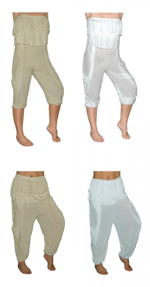 damen jumpsuit one size wei beige overall auch als hose haremshose m glich damen bekleidung overall. Black Bedroom Furniture Sets. Home Design Ideas