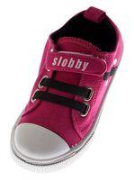 Kinder Leinen Schuhe Klettverschluss u Gummizug Sneaker Halb Schuhe Jungen Mädchen Gr. 28-35 – Bild 3