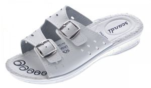 Damen Pantoletten Schwarz Weiß Beige Clogs Komfort-Soft-Fußbett Latschen Schuhe Sandalette Gr. 36-42 – Bild 3