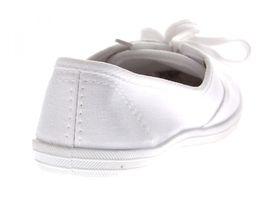Damen Halb Schuhe Leinenschuhe flach Stoffschuhe Ballerinas Schnürer Rot Hellblau Weiß Sneakers – Bild 7