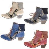 TMA Damen Stiefeletten Echtleder Comfort Boots Leder Schuhe TMA 6188 Gr. 36 - 42 – Bild 1