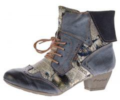 TMA Damen Stiefeletten Echtleder Comfort Boots Leder Schuhe TMA 6188 Gr. 36 - 42 – Bild 2