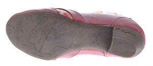 TMA Echtleder Damen Pumps Bunt Leder Halb Schuhe TMA 6101 Zeitungsdruck Trichterabsatz Gr. 36 - 42 – Bild 25