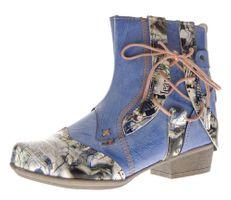 TMA Damen Stiefeletten Comfort Boots Echtleder Schwarz Blau Rot Leder Schuhe TMA 6186 Gr. 36 - 42 – Bild 3