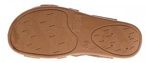 Damen Sandalette Braun Lochmuster Zierstein Klettverschluss Schuhe Leder Soft Fußbett Sandalen Gr. 36-41 – Bild 6