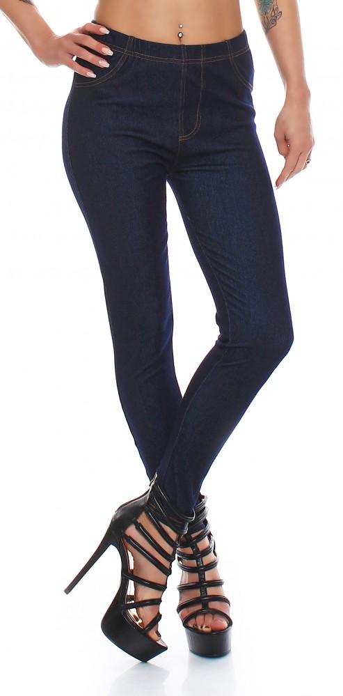 Damen Schwarz Hose Jeans Dunkelblau Gummizug GrM Stretch Xxxl Look Leggings Skinny SUVpzGqM