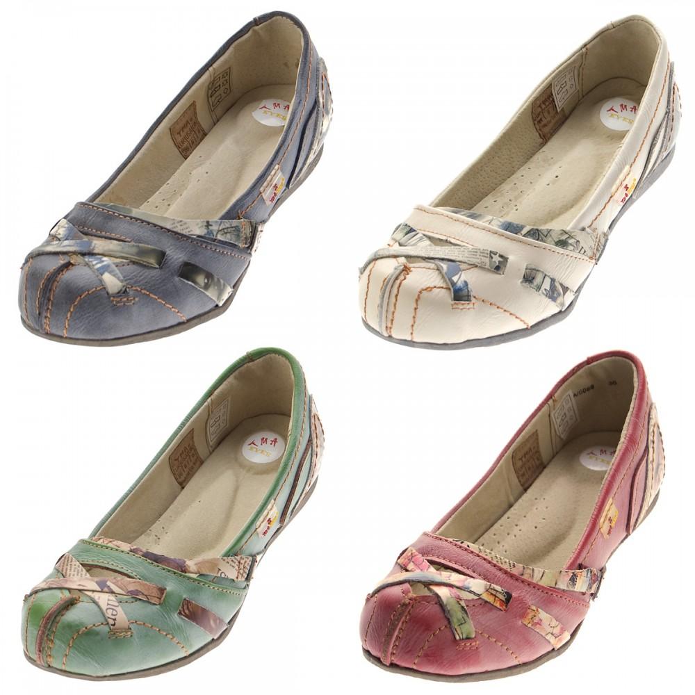 TMA Leder Damen Ballerinas Weiß Echtleder Sandalen Comfort Schuhe TMA 5088 Slipper Gr. 39 Kostengünstige Online-Verkauf Niedrige Versand Online Steckdose Online 7VHa28MeI