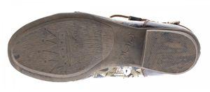 TMA Damen Stiefeletten Comfort Boots Echtleder Schwarz-Grau Weiß-Creme Leder Schuhe TMA 6211 Gr. 36 - 42 – Bild 7